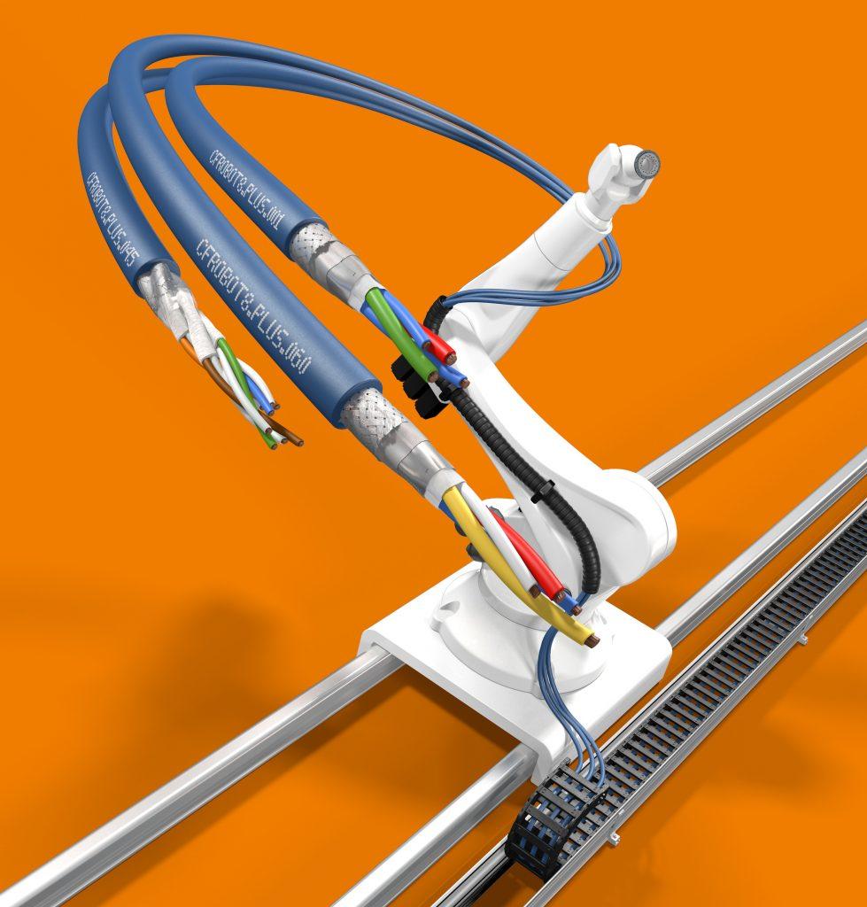 Buigradius van chainflex kabels